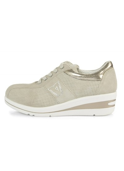 VALLEVERDE 17141  - Sneaker con zeppa - Sabbia
