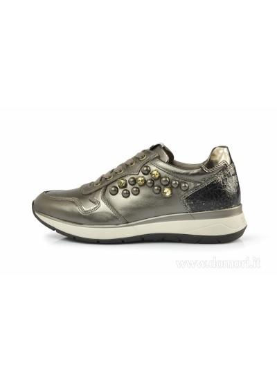 NERO GIARDINI A806580D - Sneaker Bassa - Verdegris