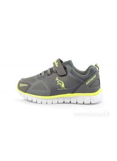 AUSTRALIAN AU788F19K - Sneaker bambino - Dark Grey Yellow