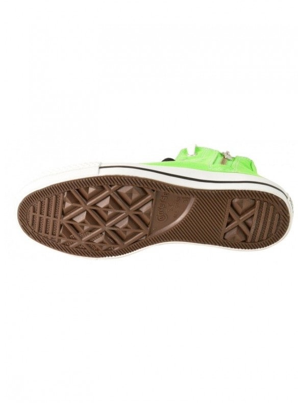 CONVERSE All star hi side zip canvas - Sneaker alta - Verde fluo
