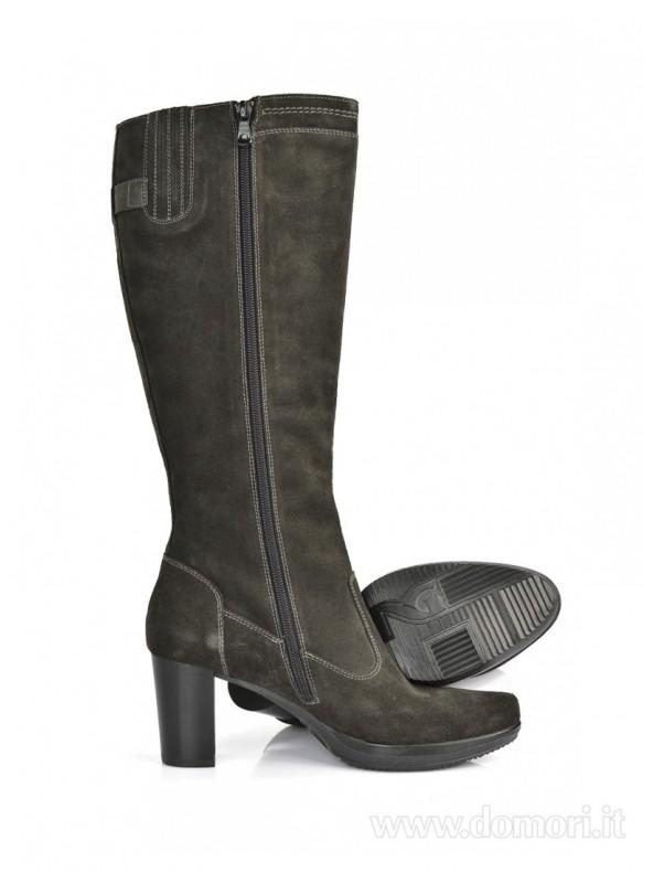 Stivale in camoscio nero Nero Giardini Domori: scarpe