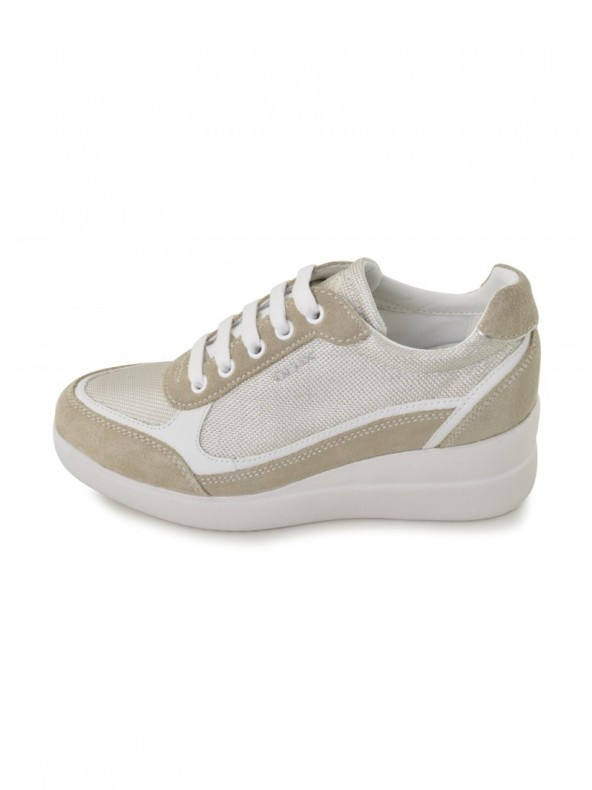 DomoriScarpeModa Sneaker E Zeppa Beige Stardust Geox Con q35jLcA4R