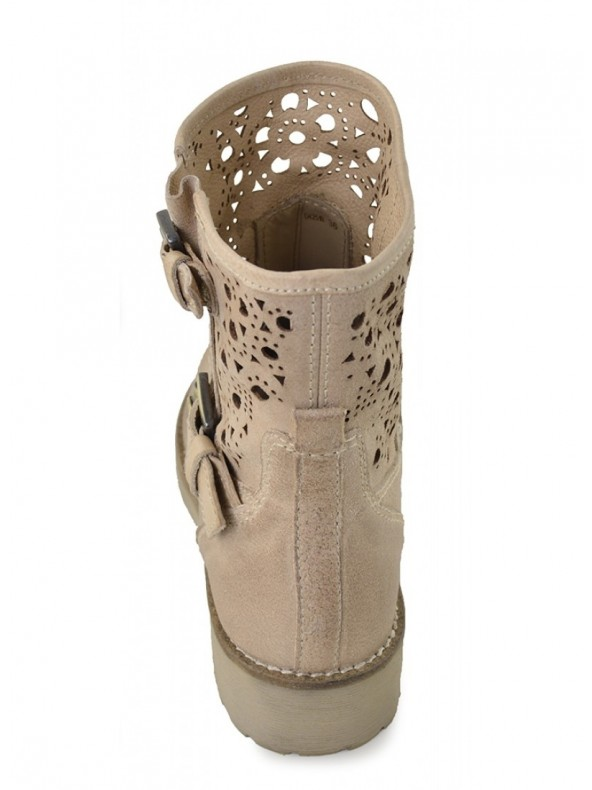 Stivaletto Geox donna New Virna Beige Domori: scarpe, moda